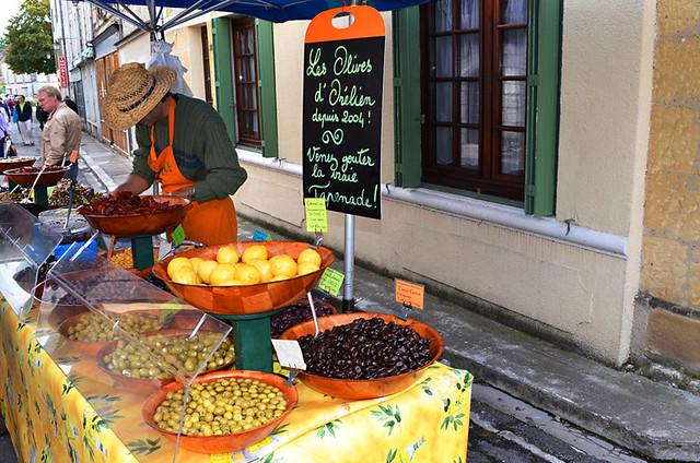 Olives, Issigeac Market, Dordogne, France