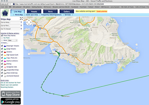 Marinetraffic.com screenshot