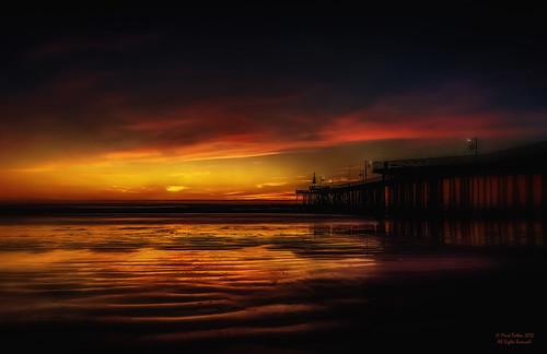 california sunset art beach water clouds pier nikon surf wave shore pismo hdr d90 alienskinsoftware promoteremotecontrol ©markpatton