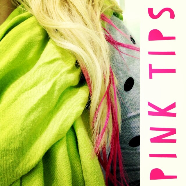 Pink tip extensions