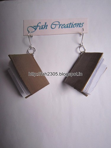 Handmade Jewelry - Paper Book Earrings (3) by fah2305