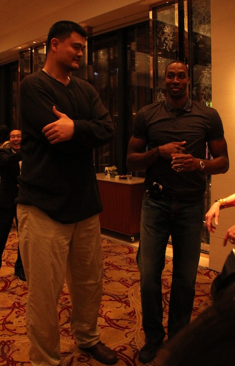 October 12th, 2013 - Yao Ming and Dwight Howard at a private party in Taipei, Taiwan
