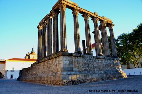 Templo de Diana y Catedral de Évora - Patrimonio de la Humanidad