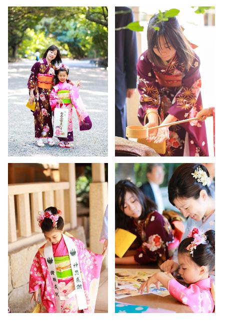 七五三写真 七五三撮影 熱田神宮 名古屋市 神社 出張撮影 おしゃれ 自然 データ納品 着物 和装