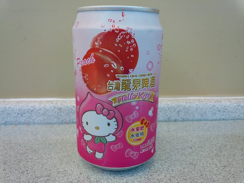 Hello Kitty Peach Flavored Taiwan Beer