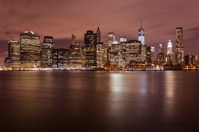 Bright lights, big city: Manhattan skyline from DUMBO *7*