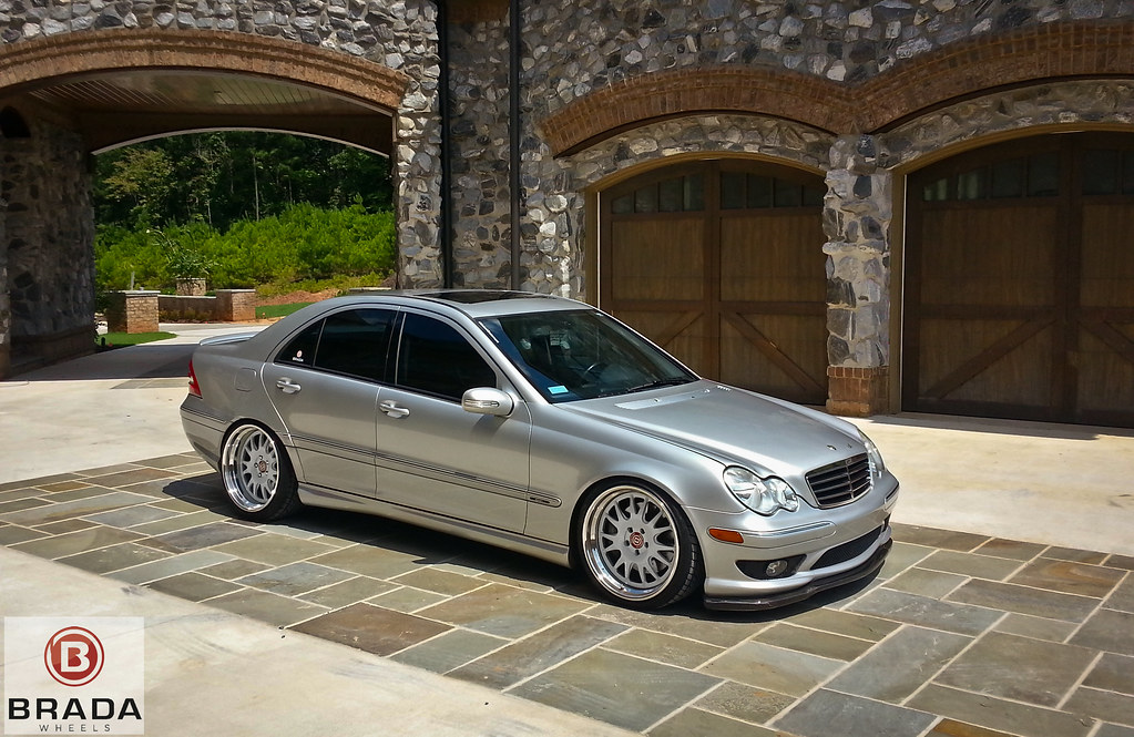 Showing off the brada project supercharged c230 on br7 39 s for Mercedes benz c240 tune up