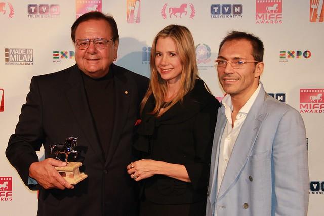 Paul Sorvino, Mira Sorvino, Andreas Gallante, Milan International Film Festival