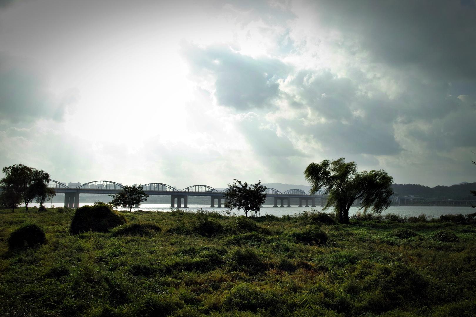 한강대교 부근-'용산-선릉 자전거 주행 정보'