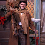 A Christmas Carol, The Musical - Pictured L-R: Vincent Rodriguez (Tiny Tim), Cole Burden (Bob Cratchit) Photo Credit P. Switzer Photography 2013