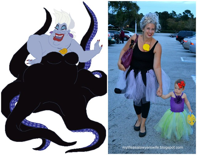 DIY ADULT URSULA COSTUME. Ursula Collage  sc 1 st  My Life as a Lawyeru0027s Wife & My Life as a Lawyeru0027s Wife: DIY Little Mermaid Family Costumes