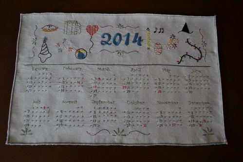 2014 Calendar Pattern!