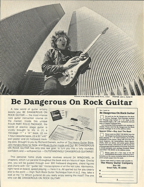 "1985 ""Be Dangerous On Rock Guitar"" Magazine Ad (World Trade Center, NYC, NY)"