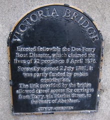 Photo of Dee Ferry Boat Disaster and Victoria Bridge black plaque