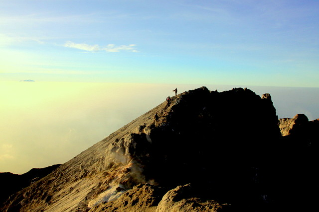 Walking on mount merapi