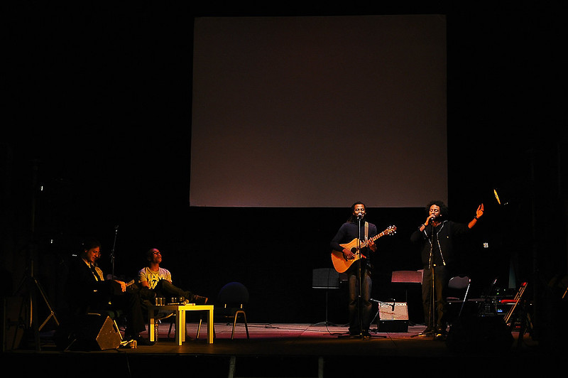 Evry Daily Photo - Ask Em x Harold x Malone - Concert Litteraire aux Arenes de l'Agora Evry 12