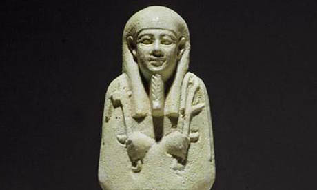 Egyptian Ushabti retrieved from Belgium. The art work was stolen during the uprising in early 2011. by Pan-African News Wire File Photos