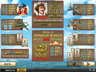 free Wings of Gold slot bonus game