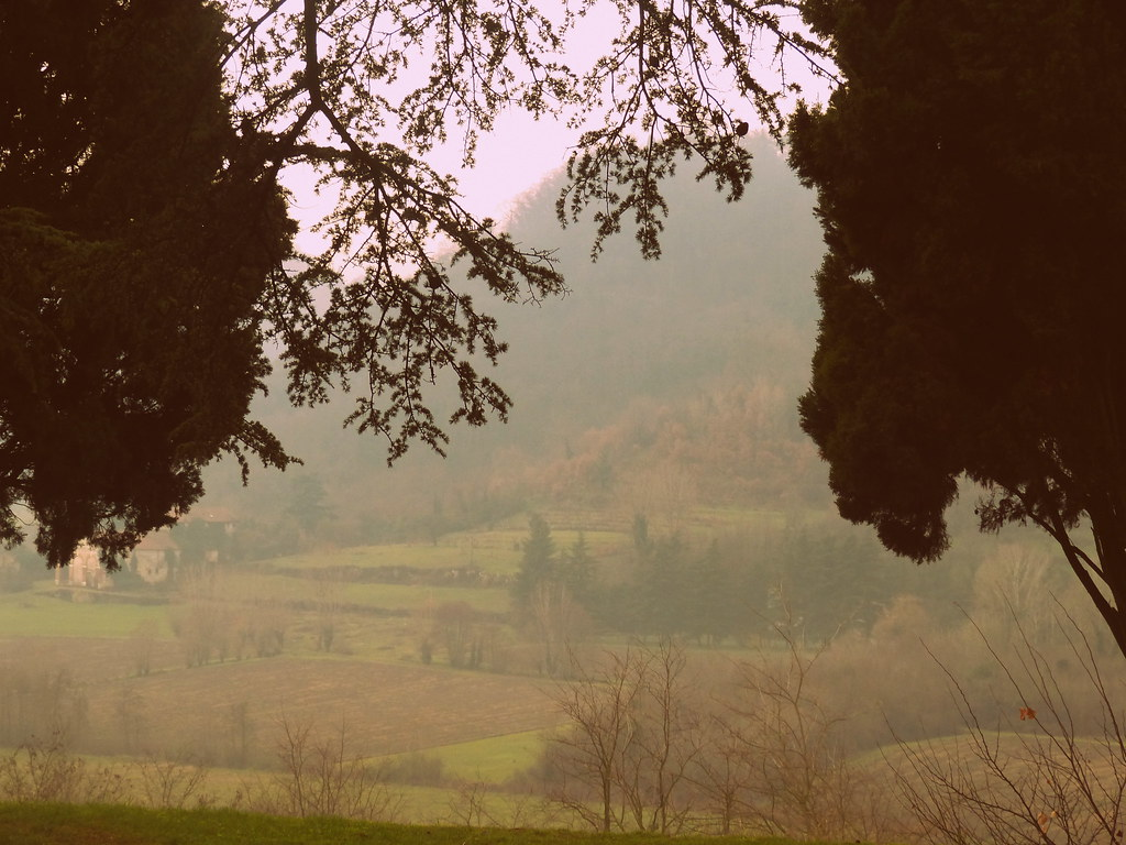Countryside with fog, Vicenza