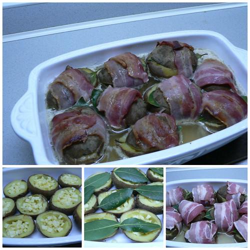 Gefuellte Kartoffeln mit Gruyere