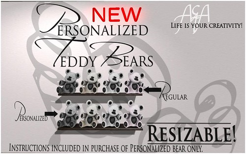 ::A&A:: Personalized Teddy Bears - NEW by Alliana Petunia