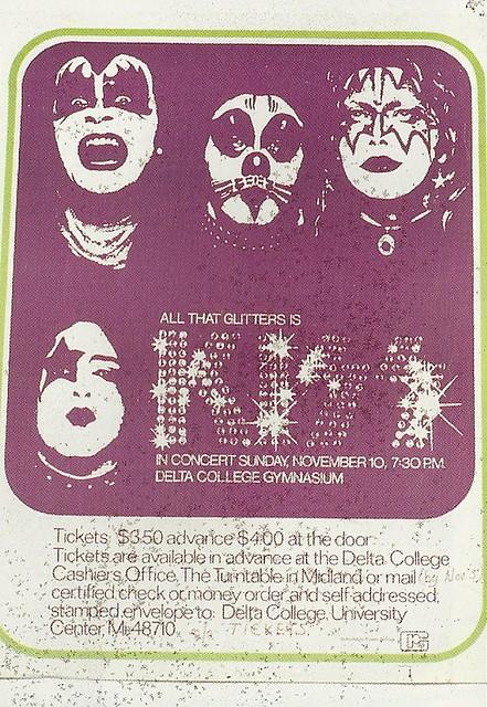 11/10/74 Kiss/ Skyhook @ Saginaw, MI