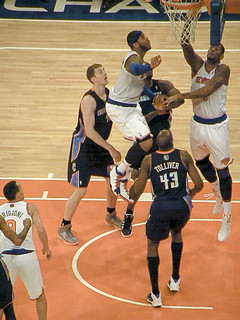 Carmelo Soars as He Waits for the Ball to Go In (It Did.)