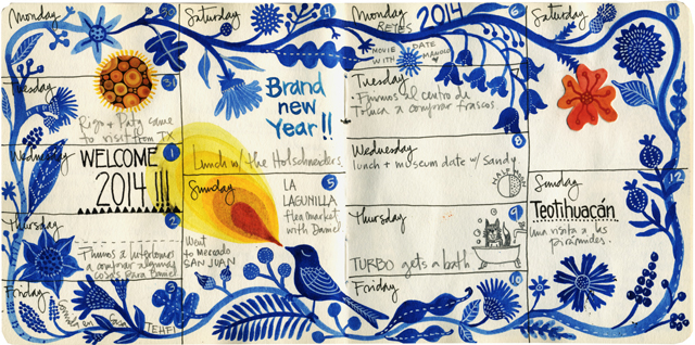 January Journal pages 2014