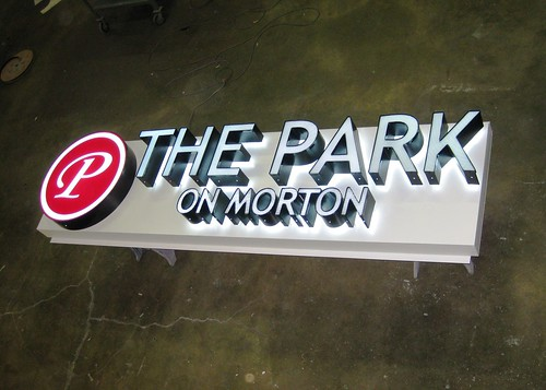 The Park on Morton Lighted Building Sign by Redirections Sign & Design