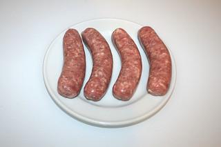 01 - Zutat Bratwurst / Ingredient bratwurst