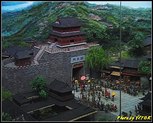 杭州 吳山天風景區 - 060 (城隍閣 內的南宋時期的杭州風情軟木立體畫))
