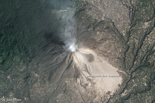 Sinabung from Space