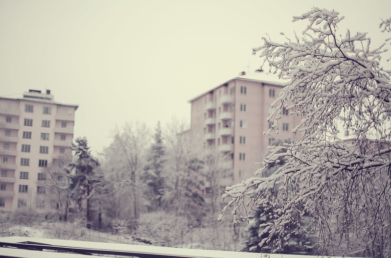 Snön som försvann och en ny sax.
