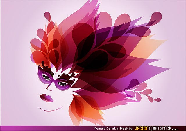 Female Carnival Mask fresh best free vector packs kits