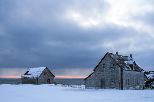 sunset on an abandoned house in Winter. Gaspesie, Canada. #28 by Danny VB