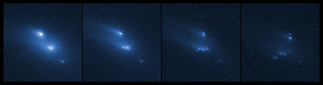 Asteroid P/2013 R3 breaks apart