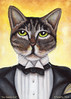 Jay Gatsby Cat Portrait