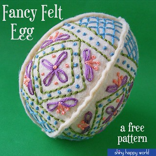 Free Embroidered Felt Easter Egg Pattern