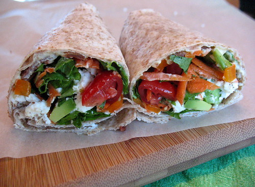 Bacon Hummus Wraps 6
