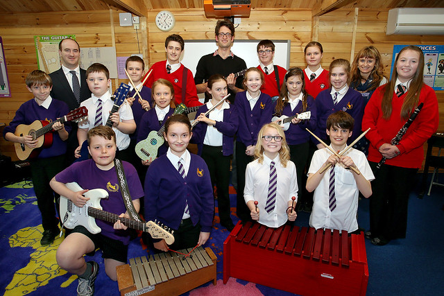 Student led music ensembles in Rochford, Essex get ready to share their skills with primary school children across the area © ROH / Paul Starr 2014