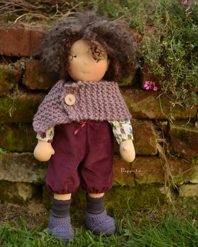 Alma,  17/18 inch waldorf inspired doll