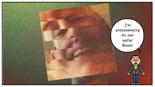 Bad Selfie (with Webcomic Photobomb)