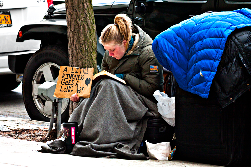 Young-Russian-born-woman-begging-on-4-23-14--Manhattan