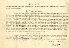 VII/2.b. A szarvasi deportáltak kérelme takaró kiutalása iránt. Határozat