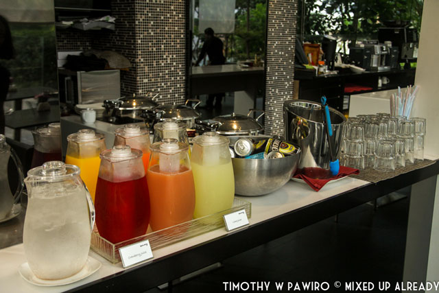 Asia - Singapore - Quincy Hotel - The restaurant - Healthy drinks