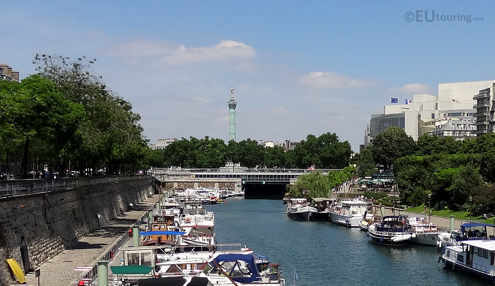 July Column from the Canal Saint-Martin