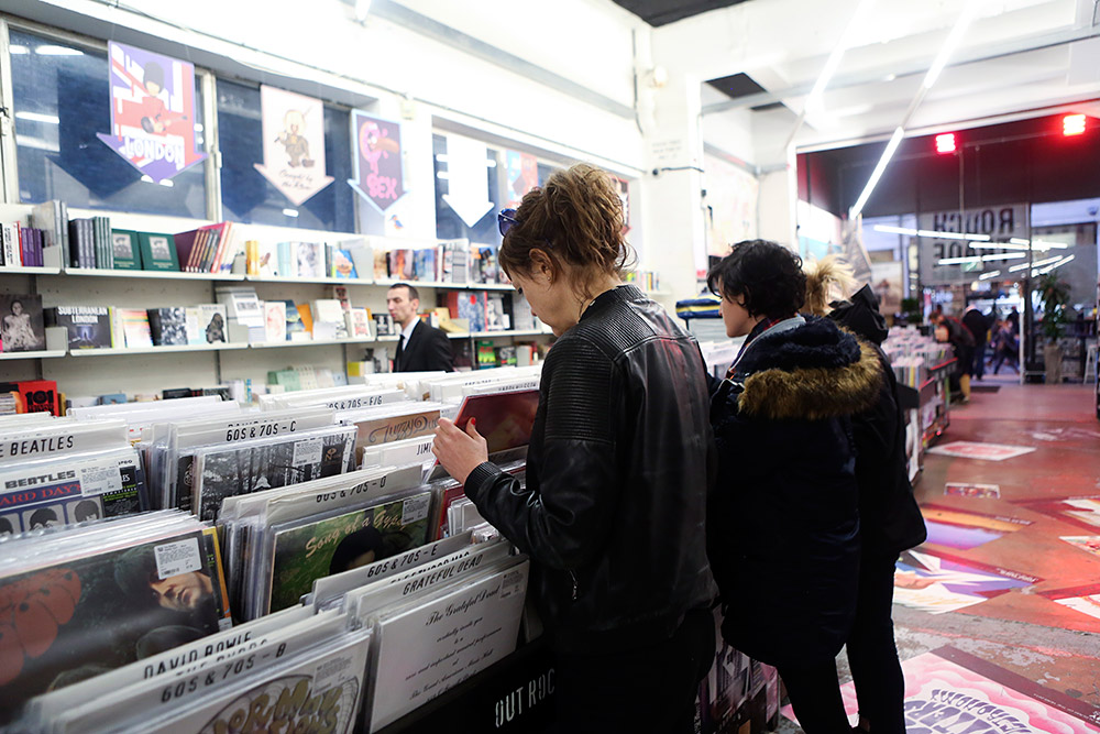 Record shopping with Ex Hex