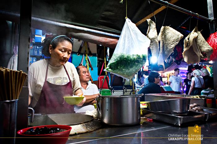 Noodle Vendor in Chinatown Kuala Lumpur
