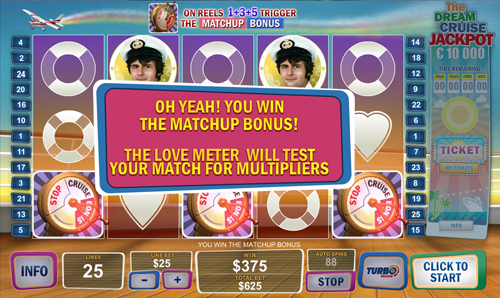 free The Love Boat bonus game feature