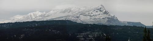 montagne aixenprovence neige provence bouchesdurhône saintevictoire